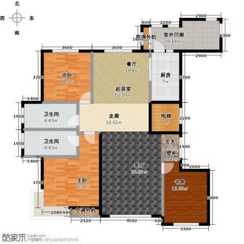金安向日葵3室0厅2卫1厨163.00㎡户型图
