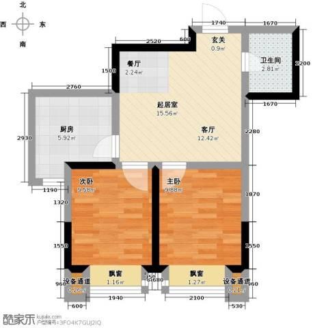 融城7英里2室0厅1卫1厨67.00㎡户型图