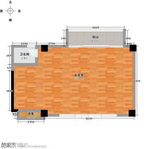 新华联丽景・珊瑚湾1卫0厨78.00㎡户型图