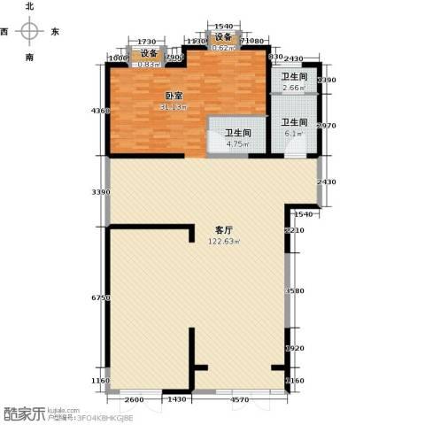 新华联丽景・珊瑚湾1厅3卫0厨151.00㎡户型图