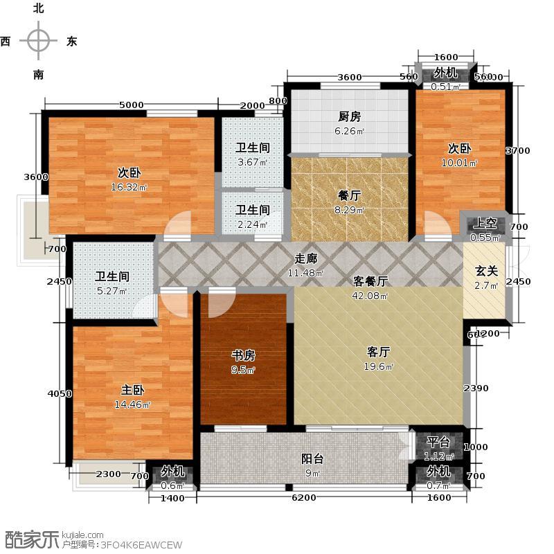 阳光100国际新城173.90㎡C1户型 四室两厅两卫户型4室2厅2卫