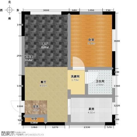 白领公寓1卫1厨55.00㎡户型图