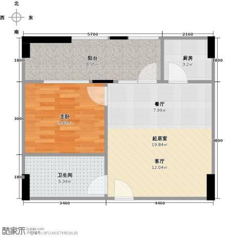 现代森林小镇金融SOHO垂直商业1室0厅1卫1厨70.00㎡户型图