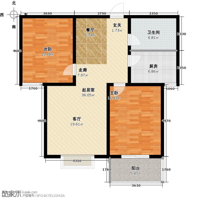 阳光盛景100.10㎡C2-三室两厅两卫户型3室2厅2卫