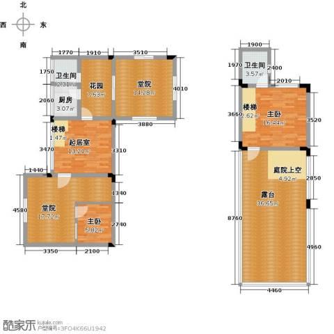 仙女山上的院子2室0厅2卫1厨137.00㎡户型图