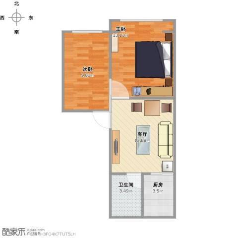 真光八街坊2室1厅1卫1厨58.00㎡户型图
