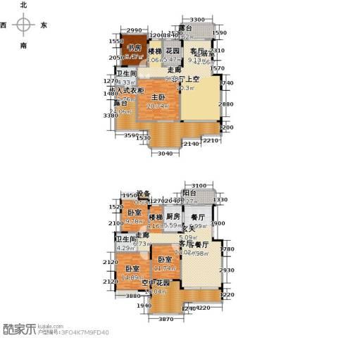 学府港湾2室1厅2卫1厨230.43㎡户型图
