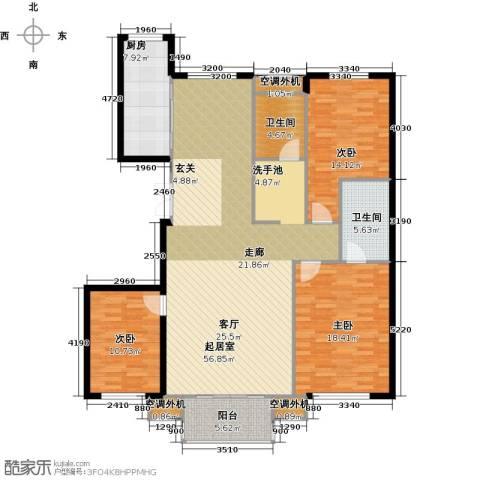 阳光乐府3室0厅2卫1厨139.00㎡户型图