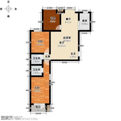 中环广场3室0厅2卫1厨113.00㎡户型图