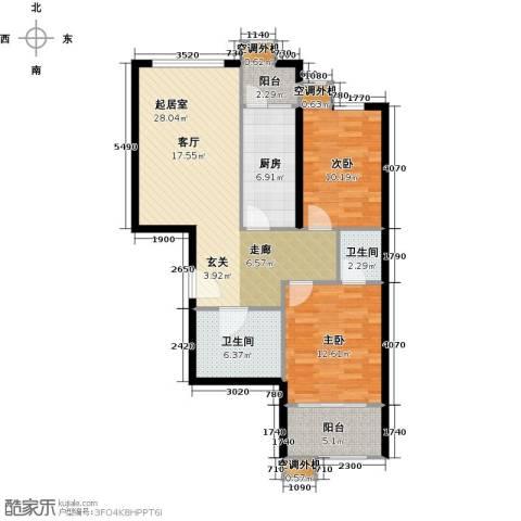 阳光乐府2室0厅2卫1厨85.00㎡户型图