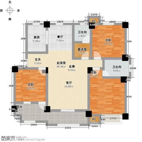 学府华园3室0厅2卫1厨150.00㎡户型图