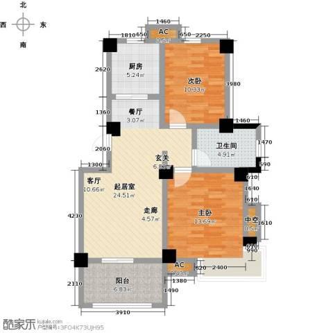 学府华园2室0厅1卫1厨100.00㎡户型图