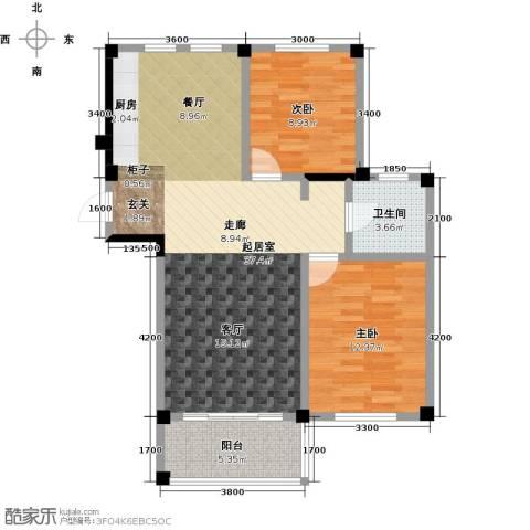 远洋假日养生庄园2室0厅1卫0厨89.00㎡户型图