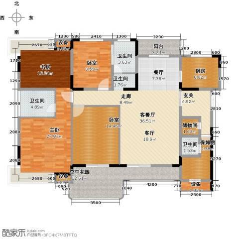 学府港湾1室1厅3卫1厨149.00㎡户型图