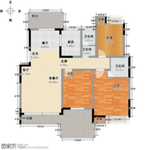 学府港湾2室1厅2卫1厨133.00㎡户型图