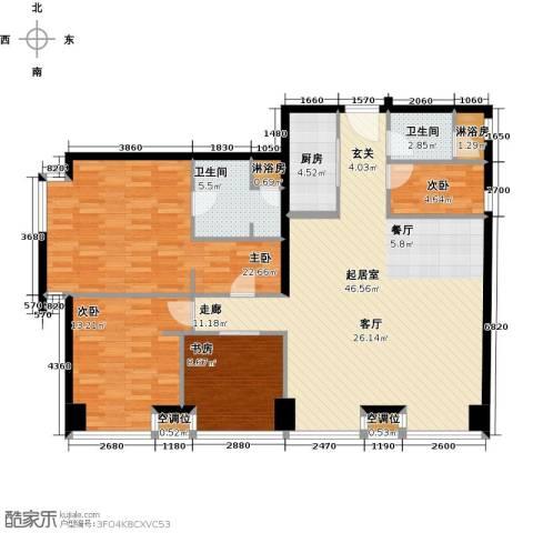瞰都・领仕馆4室0厅2卫1厨157.00㎡户型图