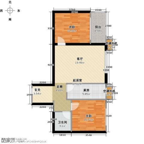 阳光乐府2室0厅1卫1厨81.00㎡户型图