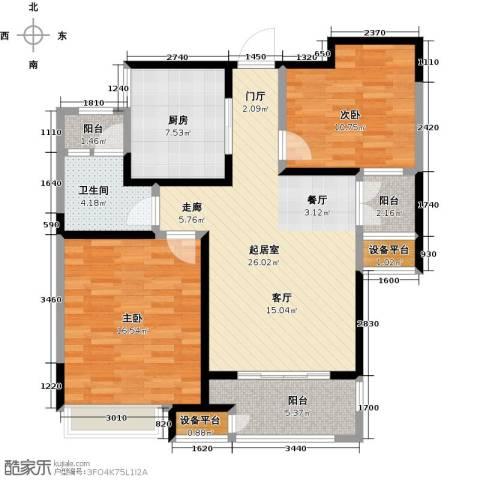 苏宁天�御城2室0厅1卫1厨109.00㎡户型图