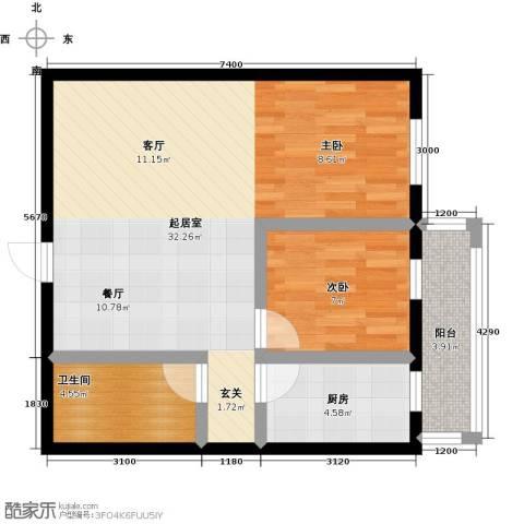 想想大厦1室0厅1卫1厨76.00㎡户型图