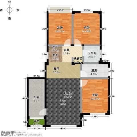 金石城3室0厅1卫1厨105.00㎡户型图