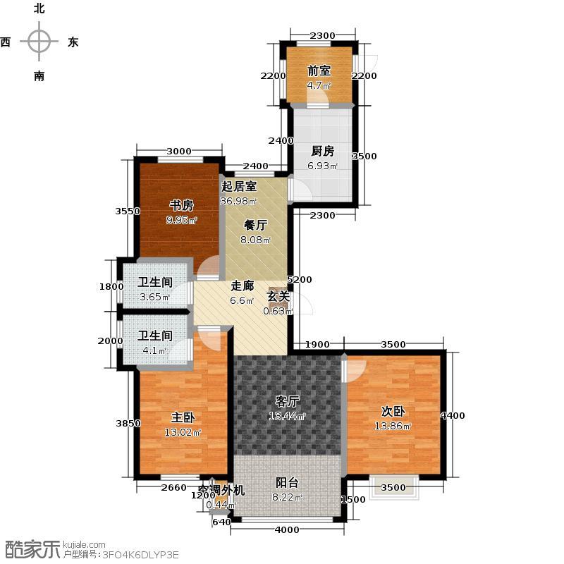 天鹅湾赫郡143.31㎡C-1户型 3室2厅2卫(含暖阳台) 建面143.31-143.57平方米户型3室2厅2卫
