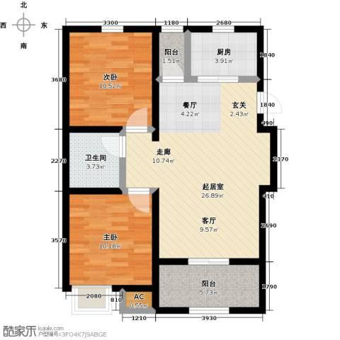 天力城2室0厅1卫1厨73.62㎡户型图