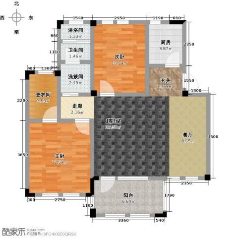 远洋假日养生庄园2室0厅1卫1厨95.00㎡户型图