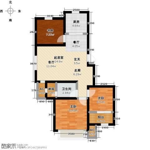 天力城3室0厅1卫1厨73.97㎡户型图