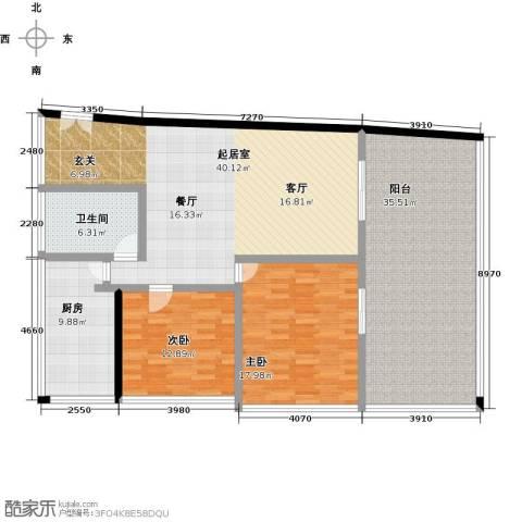 C-PARK西派国际公寓2室0厅1卫1厨141.00㎡户型图