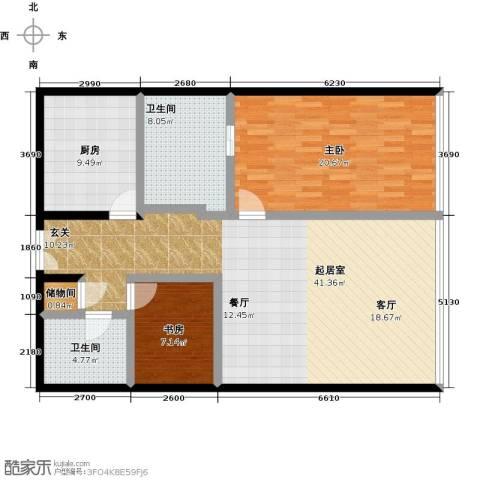 C-PARK西派国际公寓2室0厅2卫1厨150.00㎡户型图