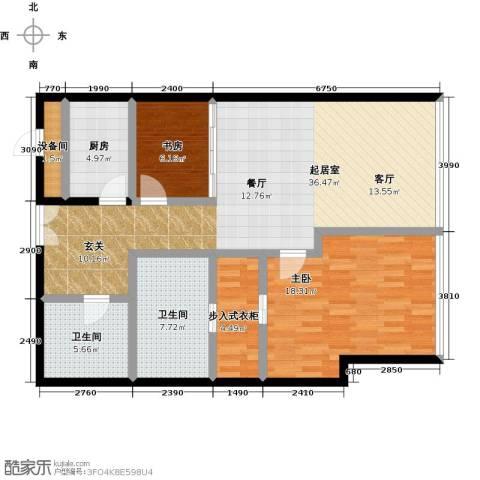 C-PARK西派国际公寓2室0厅2卫1厨141.00㎡户型图