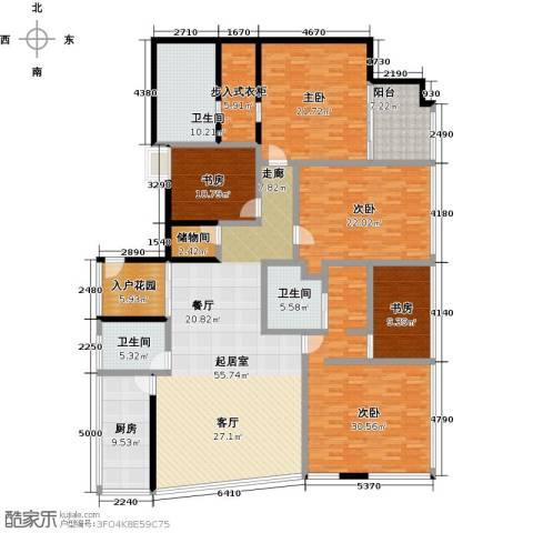C-PARK西派国际公寓5室0厅3卫1厨342.00㎡户型图