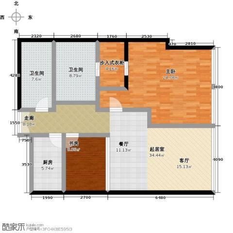 C-PARK西派国际公寓2室0厅2卫1厨156.00㎡户型图