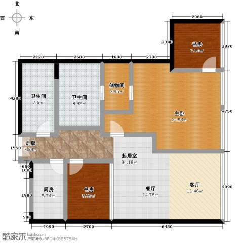 C-PARK西派国际公寓3室0厅2卫1厨168.00㎡户型图