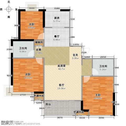 宏惠花苑二期(外滩新视界)3室0厅2卫1厨147.00㎡户型图