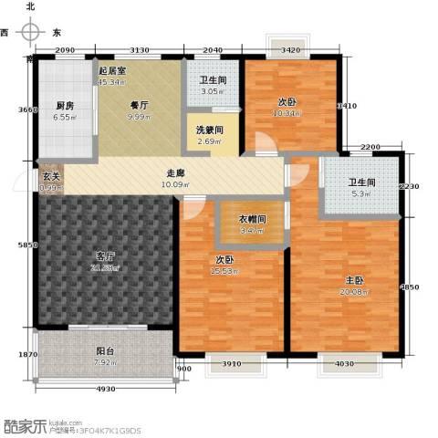 西城名邸3室0厅2卫1厨165.00㎡户型图