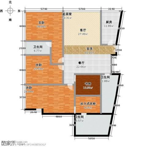 C-PARK西派国际公寓4室0厅3卫1厨285.00㎡户型图
