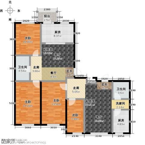 鹤乡茗苑4室0厅2卫2厨162.00㎡户型图
