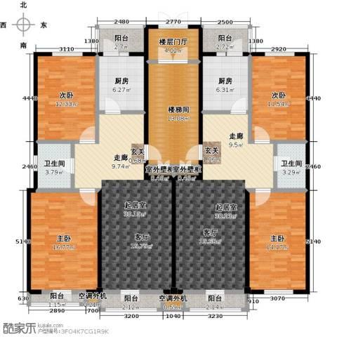 鹤乡茗苑4室0厅2卫2厨234.00㎡户型图