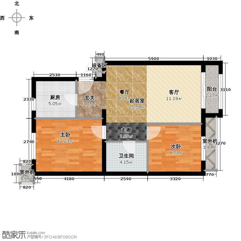朱辛庄限价房C(4-2)户型2室1卫1厨