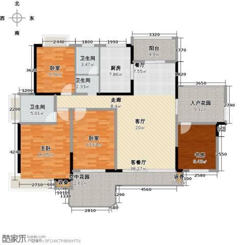 学府港湾2室1厅2卫1厨150.00㎡户型图
