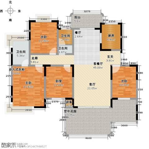 学府港湾3室1厅2卫1厨161.00㎡户型图