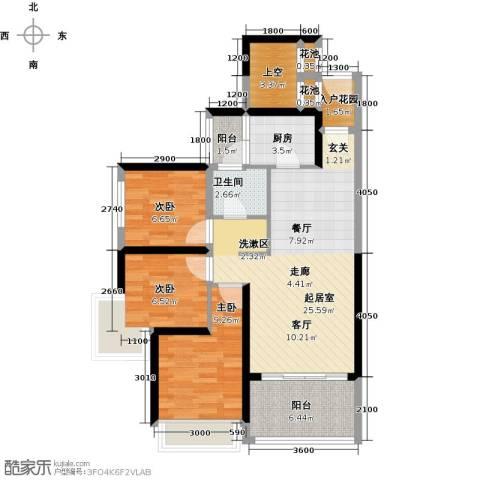 大东城3室0厅1卫1厨77.00㎡户型图