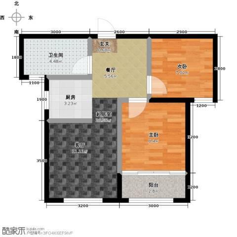 朗庭山2室0厅1卫0厨67.00㎡户型图
