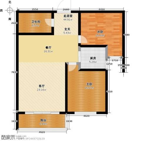 维多利国际广场二期2室0厅1卫1厨105.00㎡户型图
