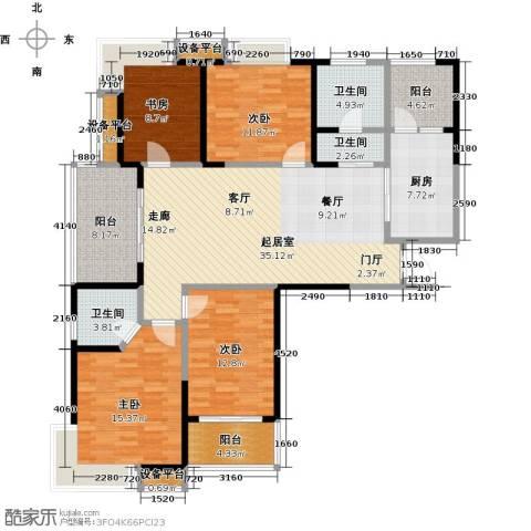 信运现代城4室0厅3卫1厨139.00㎡户型图