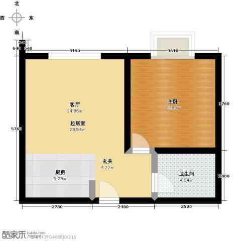 维多利国际广场二期1室0厅1卫0厨57.00㎡户型图