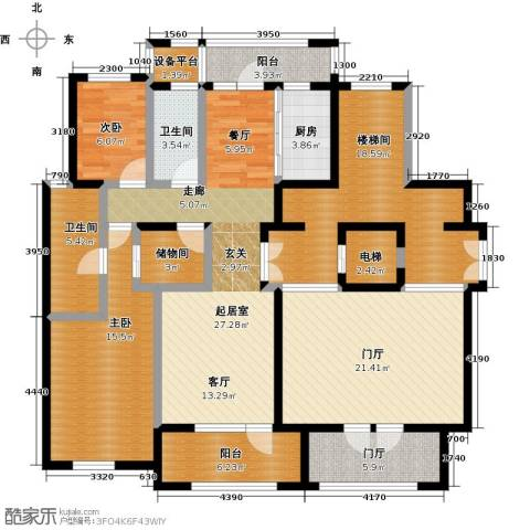 保亿丽景山2室0厅2卫1厨148.00㎡户型图