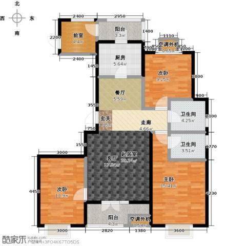 中建御邸世家3室0厅2卫1厨132.00㎡户型图