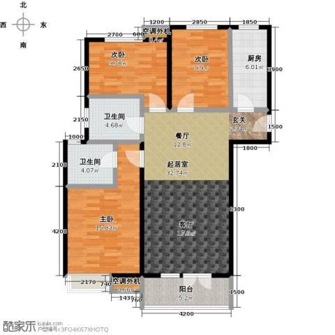 中建御邸世家3室0厅2卫1厨127.00㎡户型图